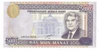 FANCY SERIAL - Turkmenistan Fancy S/N 6565650 UNC 5000 Manat 2000 - Turkmenistan