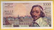 BILLET FRANCAIS - 1000 Francs Richelieu 5.4.1956 SUP - 1 000 F 1953-1957 ''Richelieu''