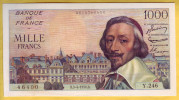 BILLET FRANCAIS - 1000 Francs Richelieu 5.4.1956 SUP - 1871-1952 Circulated During XXth