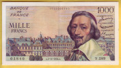 BILLET FRANCAIS - 1000 Francs Richelieu 2.11.1956 TTB+ - 1871-1952 Anciens Francs Circulés Au XXème