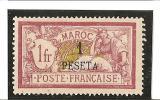 VALEURE EN MONNAIE ESPAGNOLE En Surcharge  N° 16 *gomme Altérée - Unused Stamps