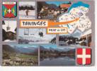 TANINGES (74-Haute Savoie),PRAZ DE LYS, Téléski, Skieur, Blason, Carte, 6 Vues, Ed. Cellard 1981 - Taninges