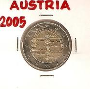 *AUSTRIA - 2 Euro Commemorativo 2005: 50° ANNIV. FIRMA DEL TRATTATO DI STATO - Austria