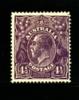 AUSTRALIA - 1927  KGV HEAD  4 1/2 D  VIOLET  SMALL MULTIPLE WMK  PERF 14 MINT NH  SG 92 - 1913-36 George V : Heads
