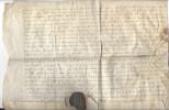 PARCHEMIN , 1437, France, Sceau ( Cassé ) - Manuscritos