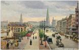 HAMBURG JUNGFERNSTIEG  Tuck's - 1910s TUCK'S POSTCARD - Germany - Germania