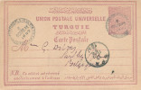 064/24 - Incoming Mail - Entier Postal Turquie HAIDAR PACHA ( Constantinople) 1897 Vers SPA - Origine Peu Commune - Belgique
