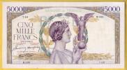 BILLET FRANCAIS - 5000 Francs Victoire 19.3.1942 SUP - 1871-1952 Anciens Francs Circulés Au XXème