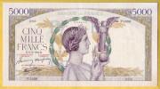 BILLET FRANCAIS - 5000 Francs Victoire 8.10.1942 TTB+/SUP - 1871-1952 Anciens Francs Circulés Au XXème