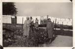 Photo Originale Travail - Jardiniers - Couple De Jardiniers, Lessive Qui Sèche Et Femmes à La Cueillette De Fleurs - Professions