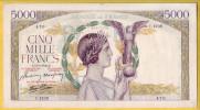 BILLET FRANCAIS - 5000 Francs Victoire 18.3.1943 TTB+ - 1871-1952 Anciens Francs Circulés Au XXème