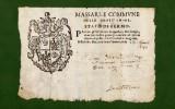 D-IT Fede Di Sanità STATO DI FERMO -GROTTAMMARE 1640 Lasciapassare Sanitario Contro La PESTE - Documenti Storici