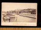 Photographie Cabinet C.1880 PARIS LE LOUVRE PONT DES ARTS Bains Fleurs Et Henri IV école De Natation / Photo E LADREY - Photographs