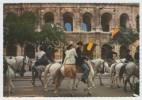 30 NÎMES - 50-2 647 - Edts Rella - La Féria. Au Fond Les Arènes (recto-verso) - Nîmes