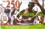 TARJETA DE KENIA DE SAFARICOM DE KSH250 DE CELEBRATE LIFE TOTAL WAR AIDS DATE 30/06/2006 - Kenya