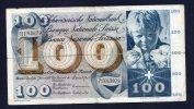 SVIZZERA - Banconota Da 100 Franchi Svizzeri 1970 - Svizzera
