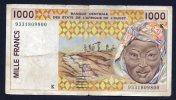 1000 FRANCS AFRIQUE DE L'OUEST -BB - Banconote