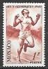 1948 Monoco Olympics 1fr Runner, Mint Light Hinged - Unused Stamps