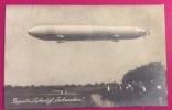"""ZEPPELLIN  LUFTSCHIFF """" SCHWBEN """" -  VERA FOTOGRAFIA VIAGGIATA  NEL 1911 - Dirigibili"""