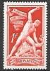 1948 Monoco Bosio Sculpture 1fr, Mint Light Hinged - Unused Stamps