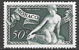 1948 Monoco Bosio Sculpture 50c, Mint Light Hinged - Unused Stamps