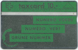 108 - Grüne Nummer - 005C Hellgrün RARITÄT Unter Den Schweizer Schalterkarten