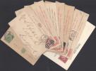 GR-BRETAGNE -  1878-1958 -  PETIT LOT DE 9 ENTIERS POSTAUX  DESTINATIONS DIVERSES - - Stamped Stationery, Airletters & Aerogrammes
