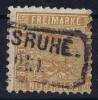 Baden Mi Nr 15 B  , Ocker 1862 Wrinckle In Back Used