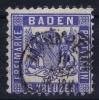 Baden Mi Nr 19 Ab  , Dunkel Kobalt  Used 1862 - Baden