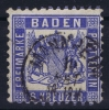 Baden Mi Nr 19 Ab  , Dunkel Kobalt  Used 1862