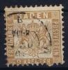 Baden Mi Nr 20 B  , Hellocker  Used 1862