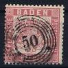 Baden Mi Nr 16  Yv Nr 22  1862  Used - Baden