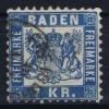 Baden Mi Nr 25  Yv Nr 25  1868  Used  Signed/ Signé/signiert/ Approvato - Baden