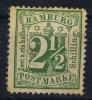 Hamburg Mi Nr 14  Yv Nr 16   MH/*  1864 - Hamburg