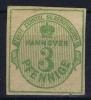 Hannover Mi Nr 20 Yv Nr 15   MH/*  1863 Signed/ Signé/signiert Brun