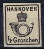 Hannover Mi Nr 17 Yv Nr 16   MH/*  1863 Signed/ Signé/signiert
