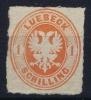 Lübeck Mi Nr 9  Yv Nr 9  MH/*  1863 Signed/ Signé/signiert