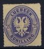 Lübeck Mi Nr 11  Yv Nr 11  MH/*  1863 Signed/ Signé/signiert