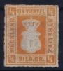 Mecklenburg-Strelitz Mi Nr 1 B  MH/*  1864 - Mecklenbourg-Strelitz