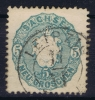 Sachsen  Mi Nr 19 Aa  1856  Used Grünlichblau - Sachsen
