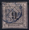 Württemberg  Mi Nr 4  Yv 4   1851  Used  Signed/ Signé/signiert Brun - Wuerttemberg