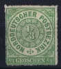 NDP  Mi Nr 2  Yv 2   1868 MH/* - Norddeutscher Postbezirk (Confederazione Germ. Del Nord)