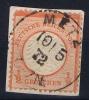 Deutsches Reich:  Mi Nr 3 Used 1872 Kleinem Brustschild - Alemania