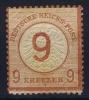 Deutsches Reich:  Mi Nr 30  Yv 29  MH/* 1874 - Unused Stamps