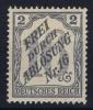 Deutsches Reich:   Dienstmarken Mi. Nr 9 MH/* - Officials
