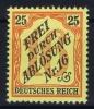 Deutsches Reich:  Dienstmarken Mi. Nr 14 MH/*  1905 - Service