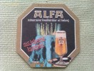 Posavasos Cerveza Alfa Bier. Holanda - Beer Mats