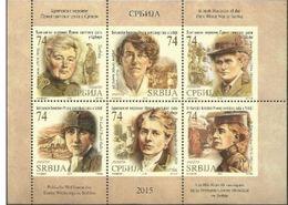 SRB 2015 I WW JUGOSLAWIEN ENGLAND BRITISH HEROINES IN SERBIA Blatt MNH - Berühmt Frauen