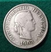Lot De 2 Pieces Suisse Confédération Helvétique: 10 Rappen 1903 B + 1924  B - Suiza
