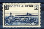 Algeria 1949 Oevres Sociale De La Marine N. 273 Fr. 10+15 Blu **MNH Catalogo € 10 - Ungebraucht
